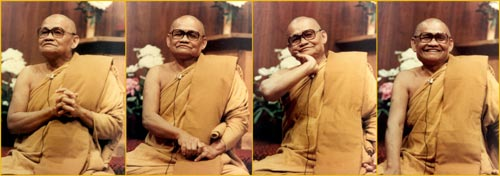 4 photos of Venerable Ajahn Chah